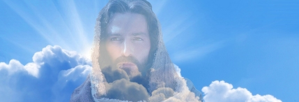 Jesus Saves Lives picture in clouds