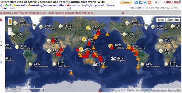 Volcano Map March 2 2013