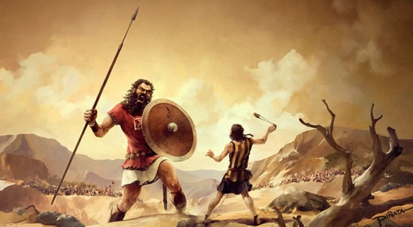 David and Goliath  israelbiblevalley com