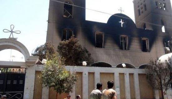 Christian church burned