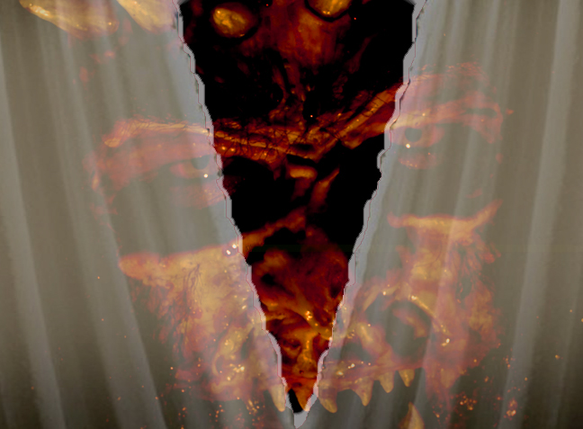 demon behind the veil