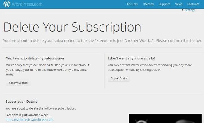delete subscription