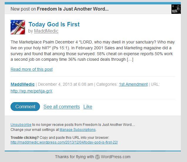 wordpress post email