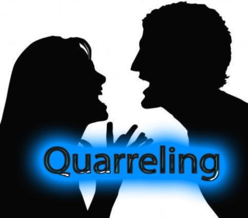 quarreling copy