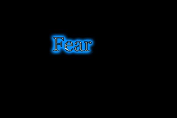 Fear black background