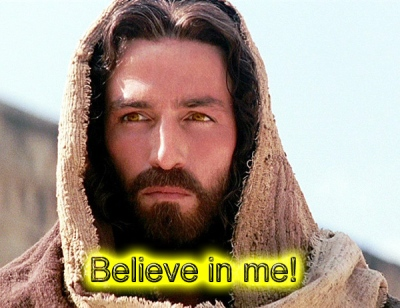 Jesus believe in me and you shall be saved copy