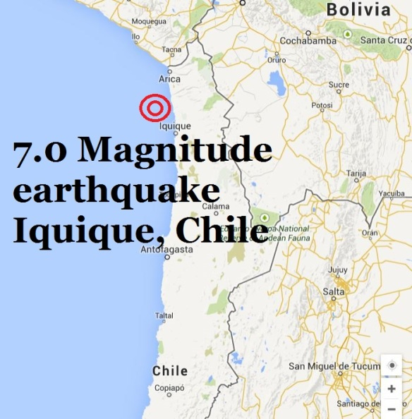 earthquake chile Iquique