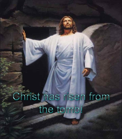 Christ has risen from the tomb copy