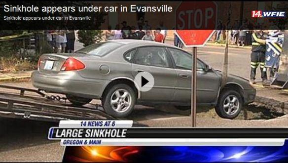 sinkhole Indiana 3 June 2014