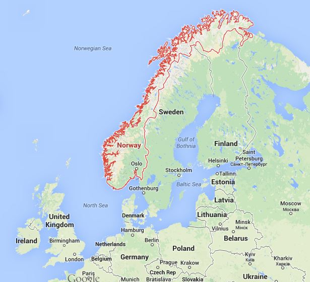 Islamists Planning Imminent Attack In Norway Police End Time - Norway map 2014