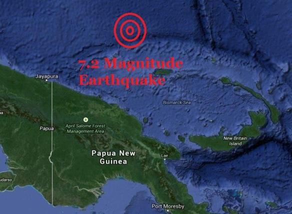 earthquake Papua New Guinea 7.2 magnitude 8 3 14