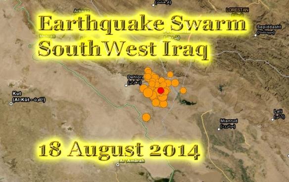 earthquake swarm hits southwest Iran today 18 Aug 2014 copy