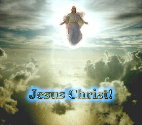 Jesus Christ in clouds