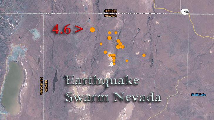 Earthquake swarm in remote Nevada region intensifies