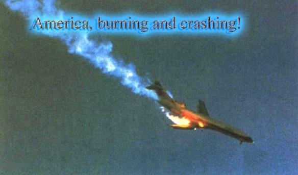 America burning and crashing copy