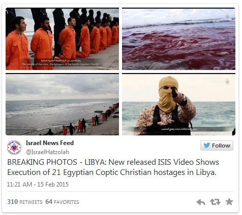 Christians beheaded in Lybia by Islamic State