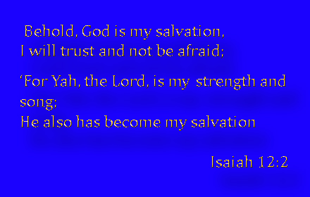 Isaiah 12  2  the Lord is my strength