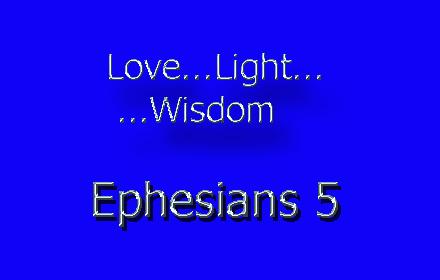 love light wisdom Ephesians 5