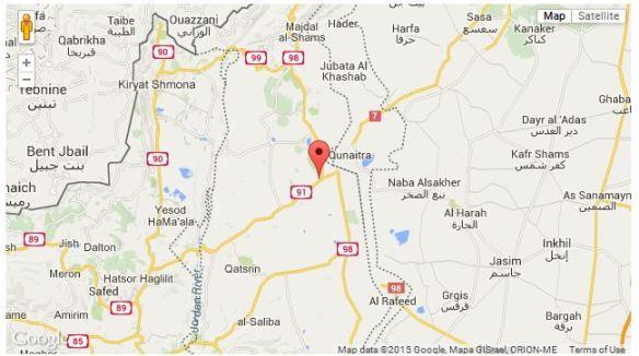 Israel mortar shells fired 28 April 2015