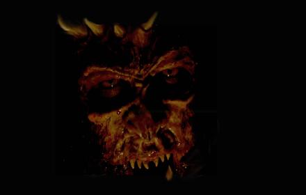 Demon black background