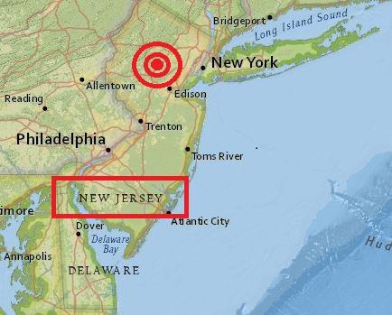 earthquake 2.7 New Jersey 14 Aug 2015