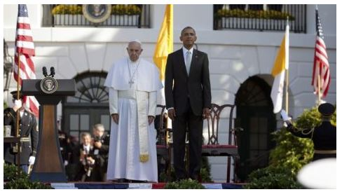 Pope and Obama white house
