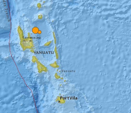 earthquake Vanatu Islands 7.1  20 October 2015
