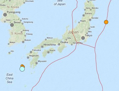 earthquake Japan 6.7 magnitude November 14 2015