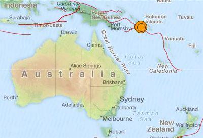 earthquake Solomon Islands 7.0 18 November 2015