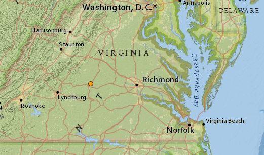 earthquake Virginia 4 Nov 2015