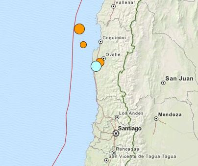 earthquakes Chile 7 November 2015