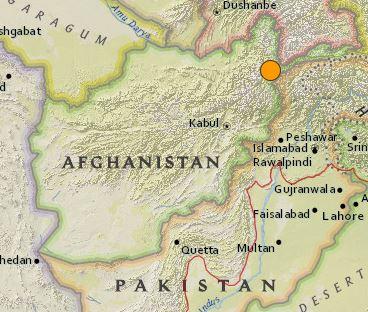 earthquake Afghanistan 6.3 December 25