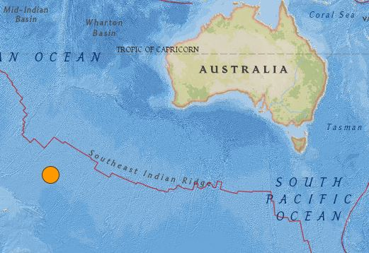 earthquake Australia 5 December 2015
