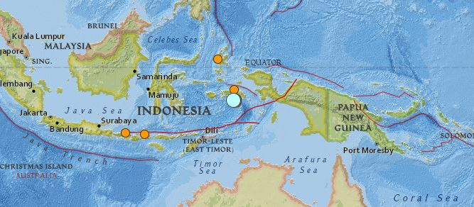 earthquake Indonesia 9 December 2015