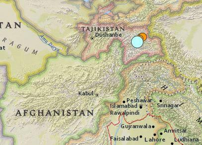 earthquake Tajikistan 7.2   December 7 2015