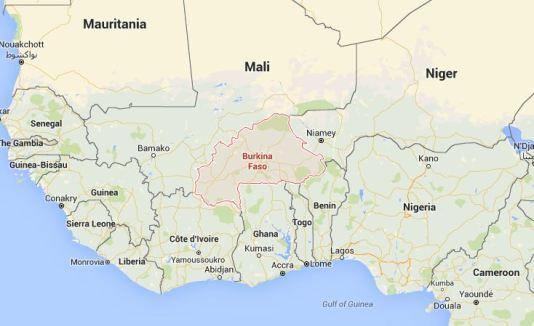 Burkina Faso Africa map