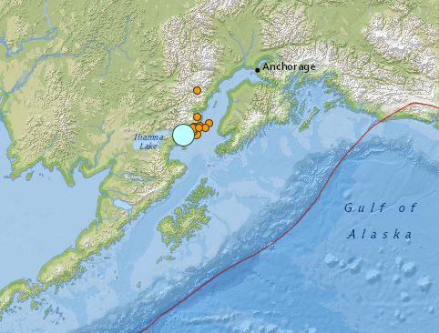earthquake Alaska 24 January 2016