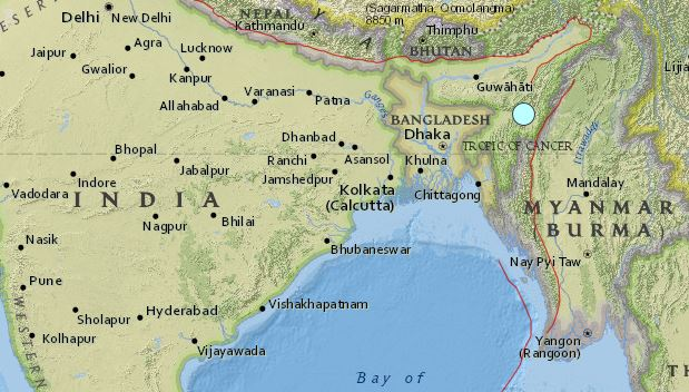 earthquake India 4 January 2016