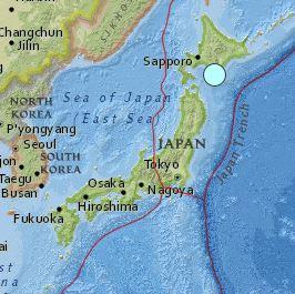 earthquake Japan 6.7 magnitude January 14 2016