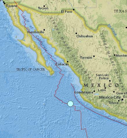 earthquake Mexico 21 January 2016