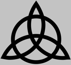 Satanic symbol Triquetra