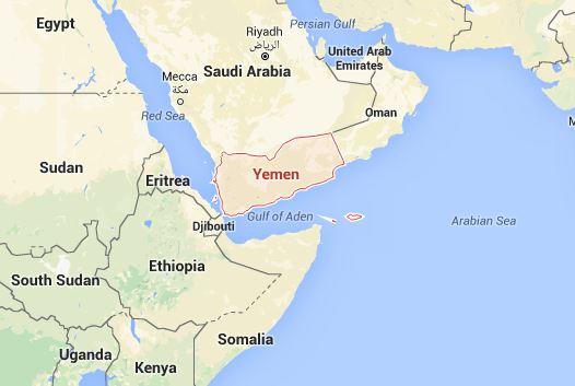 Yemen map Google