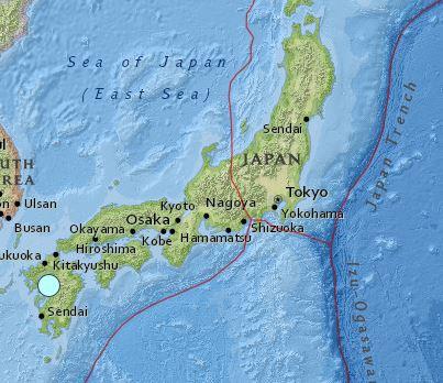 earthquake Japan magnitude 6.0 April 14 2016