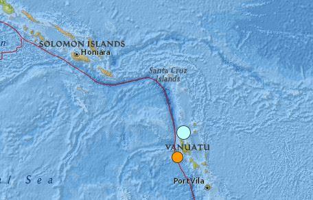 earthquake Vanuatu 6.9 3 April 2016
