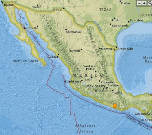 earthquake Mexico May 8 2016