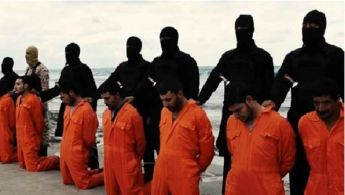 ISIS beheading Christian men in orange jump suits