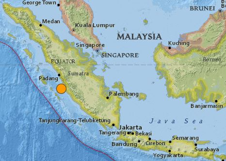 earthquake Indonesia magnitude 6.5 June 2 2016