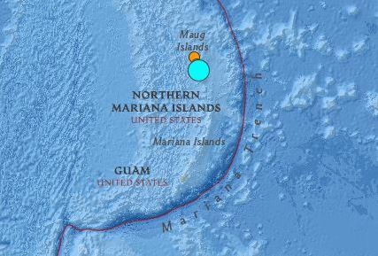 earthquake Mariana Islands July 29 2016