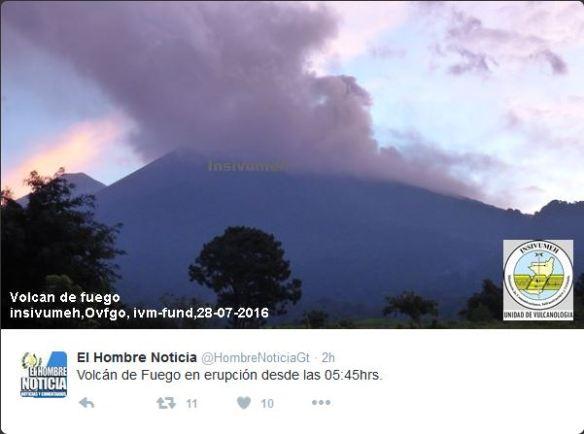 Guatemala Volcanic eruption July 28 2016