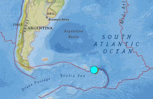 earthquake Argentina Magnitude 7.4 Aug 19 2016